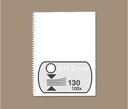 DRAADRUG GBC 14.3MM 34RINGS A4 WIT 100 STUK