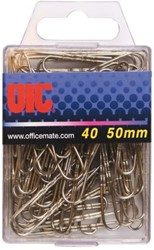 PAPERCLIP OIC 50MM ZILVER 40 STUK