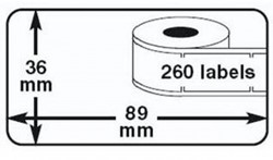 ALTERNATIEVE DYMO LABELS 99012 ADRES