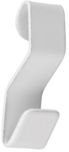 Stas - J-rail S-haak wit (voor koord met lus)