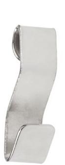 Stas - J-rail S-haak alu (voor koord met lus)