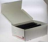 BINDRINGEN 21-RINGS 8MM NAVYBLUE PLASTIC DS. 100 STUKS