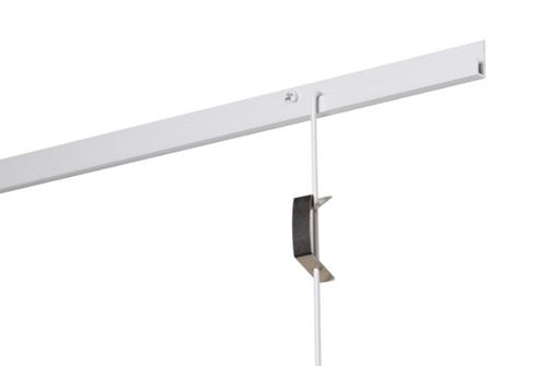 Stas - J-rail wit 200 cm (4 gaten per meter)